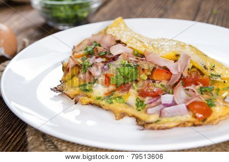 Fresh Made Omelette (close-up Shot)