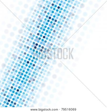 Blue tech circles on white background. Vector design