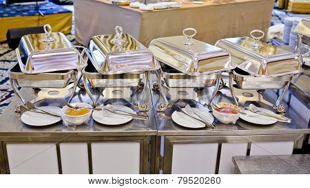 Buffet Heated Trays Ready For Service