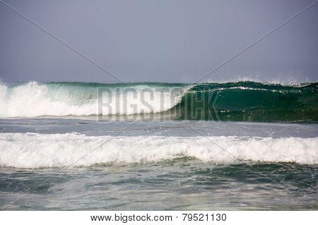 Wave Forming Tube At Zicatela Mexican Pipeline Puerto Escondido Mexico