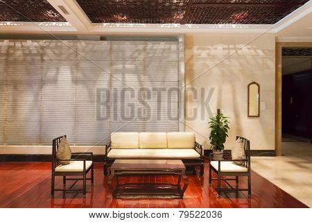 modern hotel interior and lobby
