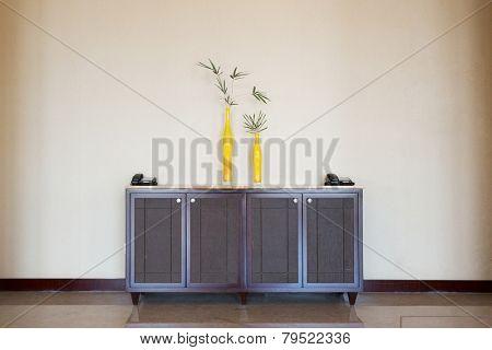 cupboard in hotel corridor