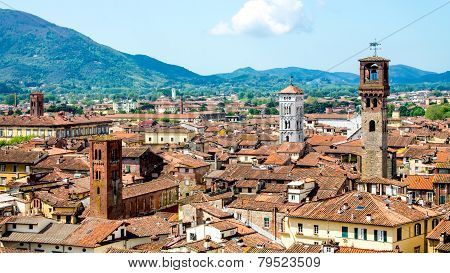 Cityscape Of Lucca