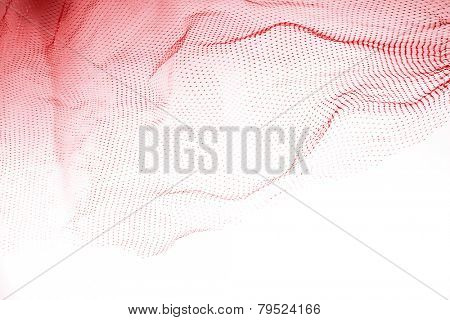 Closeup of abstract fishnet background