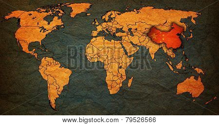 China Territory On World Map