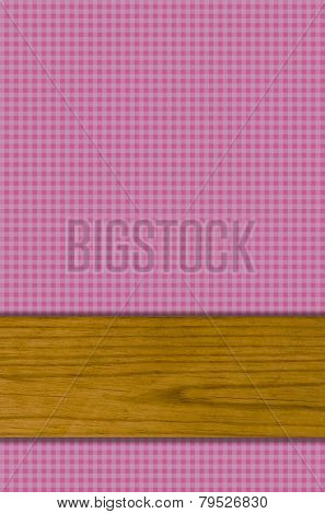 Purple Tablecloth pattern with wooden board