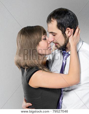 Couple Before Kiss
