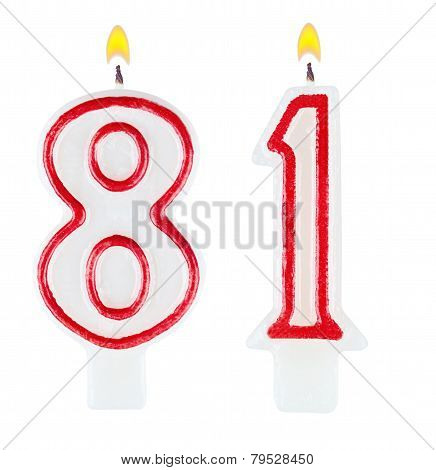 Birthday Candles Number Eighty One