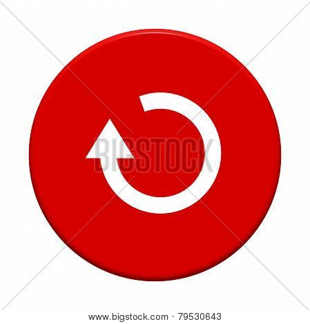 Round Button with update symbol
