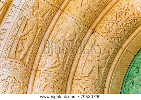 Mausoleum Petrinovic arcade detail