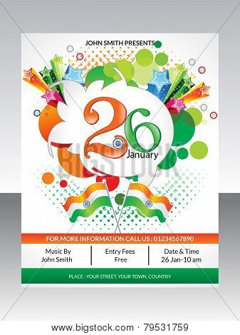Abstract Republic Day Flyer Template
