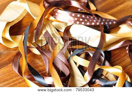 Brown ribbons