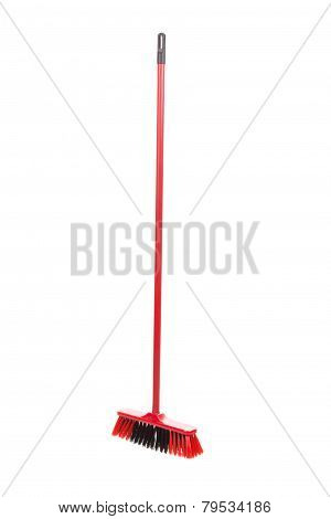 red black broom