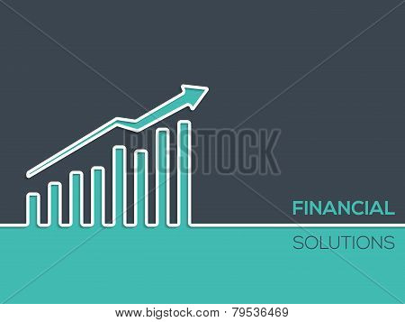 Financial Solutions Background For Businesses With Chart