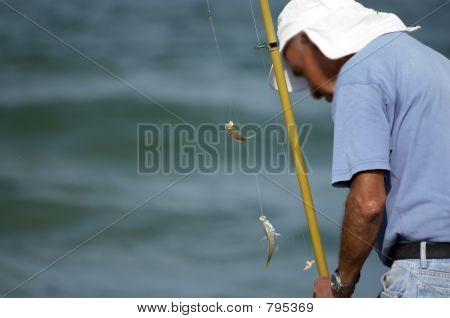 fisherman  and fish