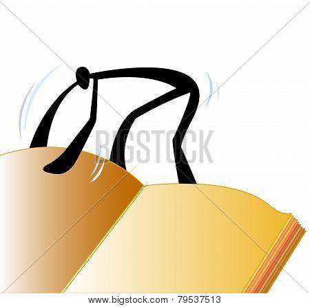 Shadow Man Open Book.