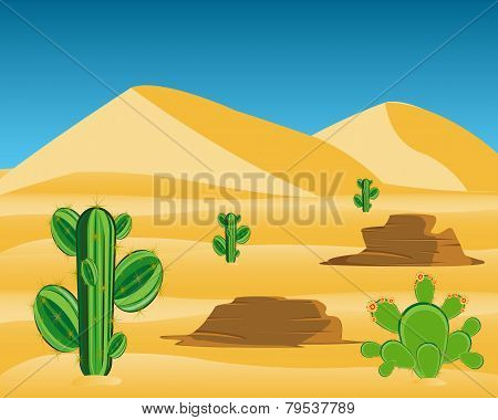 Desert with cactus