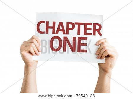 Chapter One card isolated on white background
