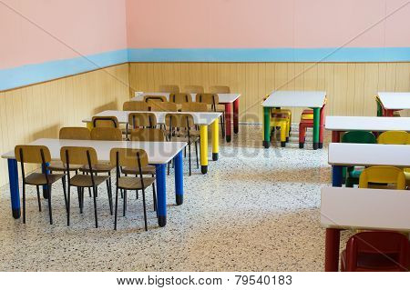 Lunchroom Of The Refectory Of The Kindergarten