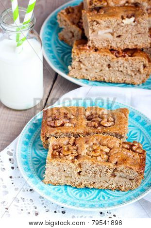 Slices Of Wholemeal Cake