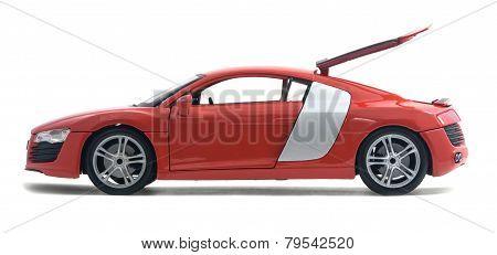 Model Red Car Audi R8