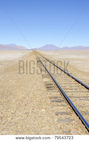 Bolivia, Antiplano - railroad between Bolivia and Chile