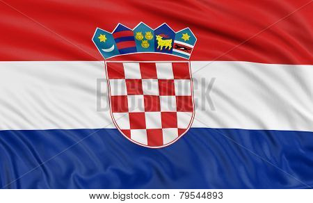 3D Croatian flag