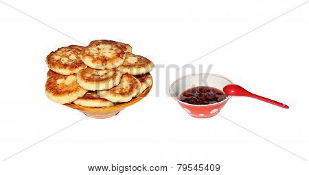 Cheesecakes On A Plate Isolated