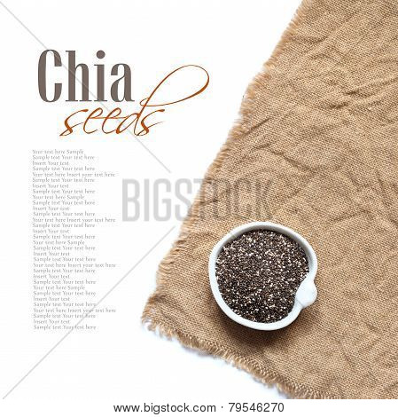 Chia Seeds In Bowl