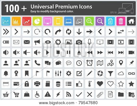 Media Icons, Web Icons, Arrow Icons, Setting Icons, Cloud Icons, Finance Icons, Mobile Icons