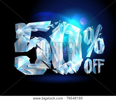 50 % off sale coupon ice design.