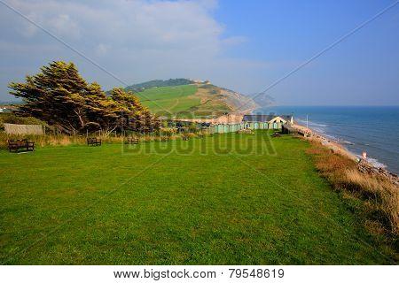 Charmouth Dorset England UK with coas