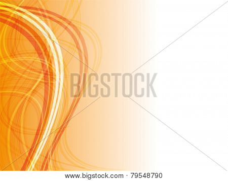 Abstract line background, colored in orange.