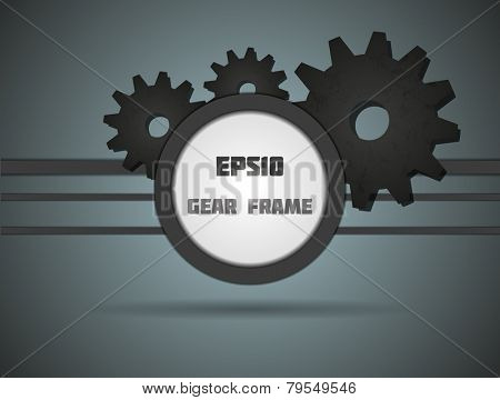 Gear frame for your design. Fully vector, enjoy!