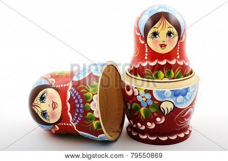 Two Traditional Russian Matryoshka Dolls