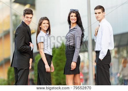 Young And Handsome Business People