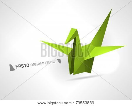 Vector origami crane for your designs