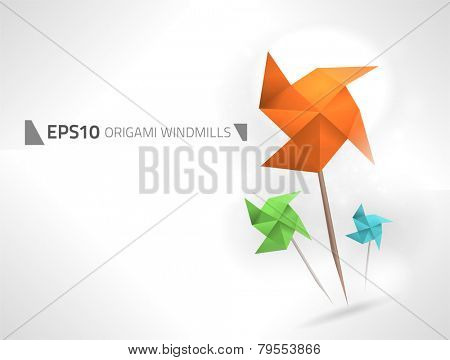 Vector origami windmills design