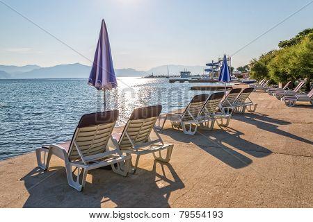 Beach in Supetar on island Brac