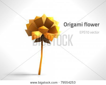EPS10 vector origami flower