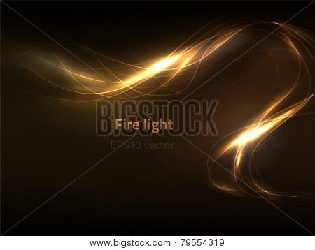 EPS10 vector fire light