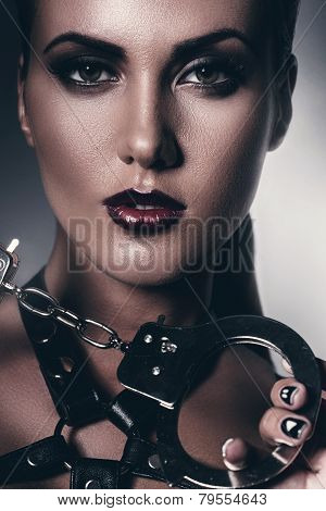 Hot Woman With Handcuffs