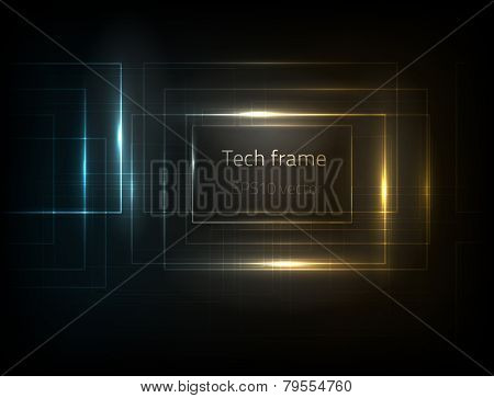 EPS10 vector tech frame