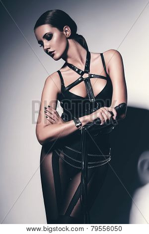 Sensual Woman With Whip