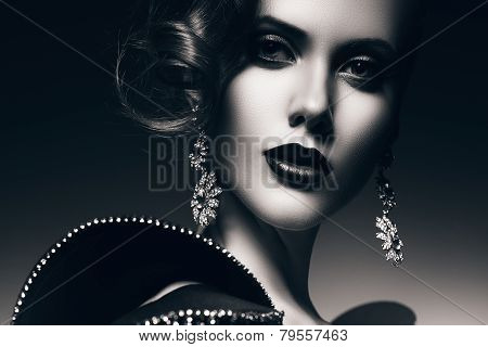 Monochrome Beautiful Elegant Woman