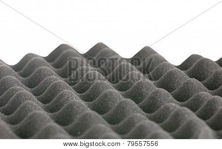 Eggshell Grey Foam Border Isolated On White Background