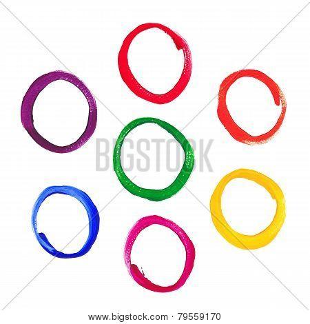 Color acrylic round frames