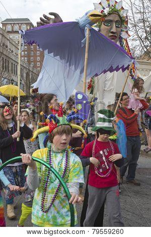 Mardi Gras Parading