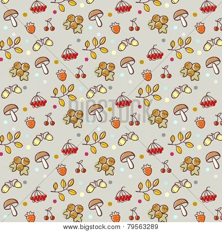 Cartoon Forest Pattern