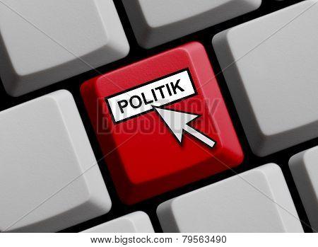 Computer Keyboard showing Politics